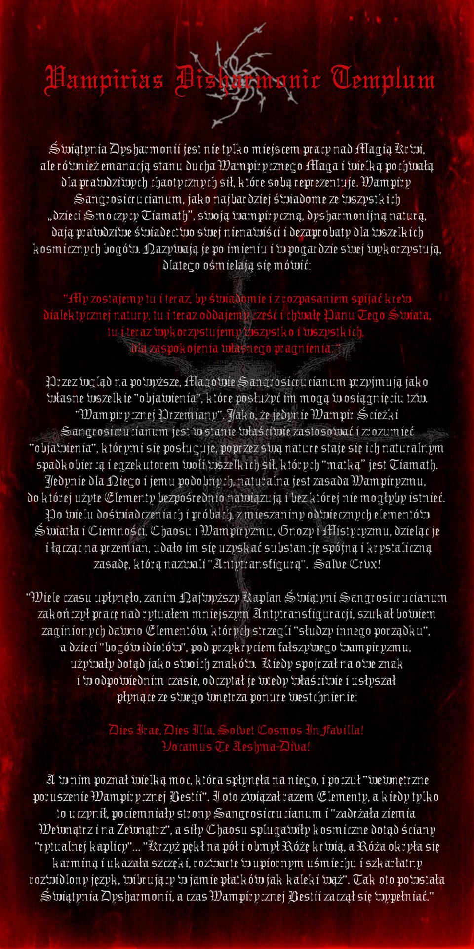 Vampirias Disharmonic Templum